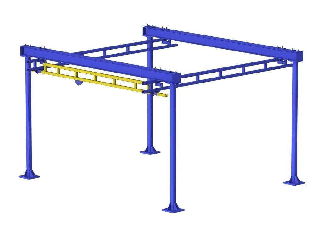 gorbel freestanding overhead bridge crane