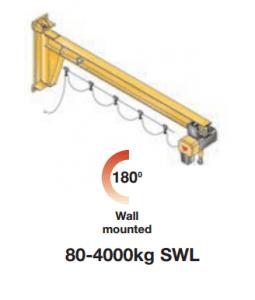 Low Headroom Jib Crane - Wall Mounted