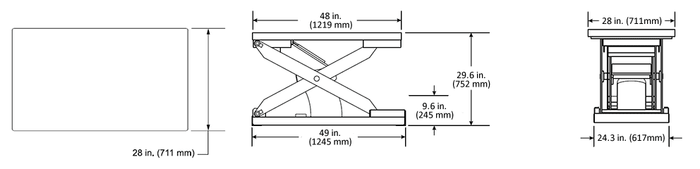 Pneumatic Scissor Lift Specifications