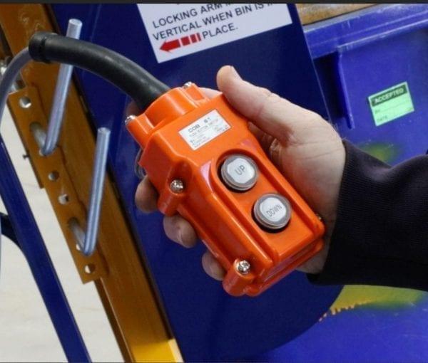 Electro-Hydraulic Wheelie Bin Tipper (150kg) - Powered Control