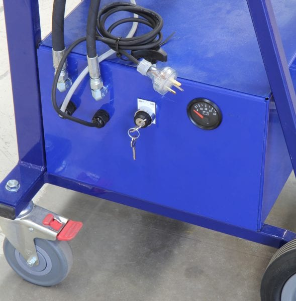 Electro-Hydraulic Wheelie Bin Tipper (150kg) - Keyswitch