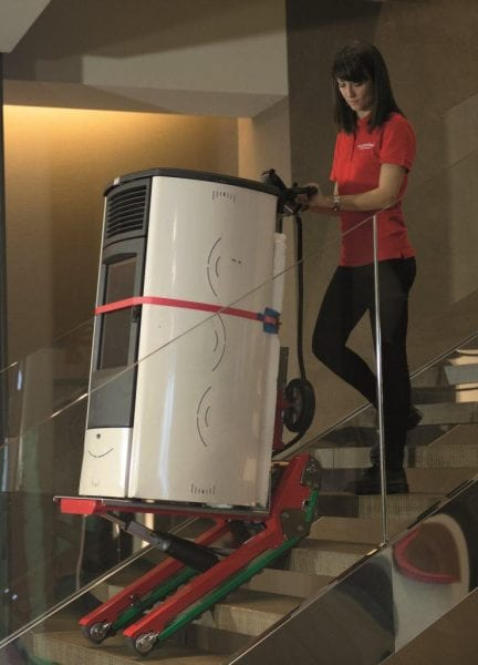 Domino Stair Climbing Robot moves up and down stairs