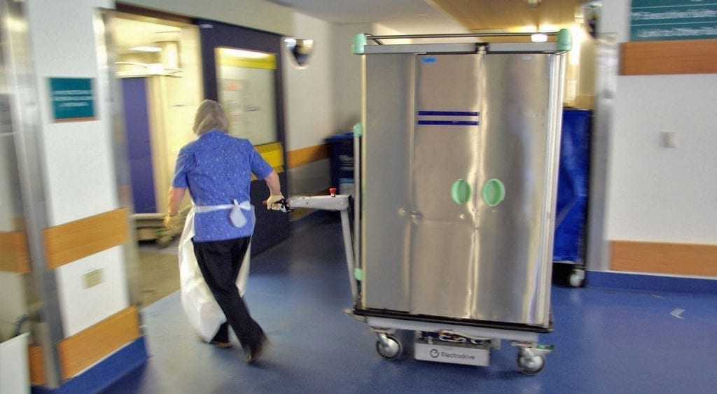 Transpak Powered Trolley in action