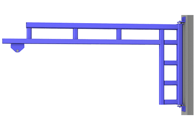 Gorbel Workstation Jib Crane